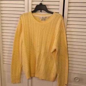 Tommy Hilfiger Lemon Yellow Cable Knit Sweater